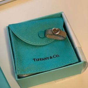 Tiffany & Co. Jewelry - Tiffany and Co mesh ring with heart